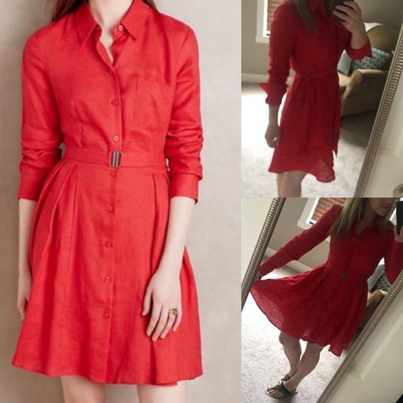 c298824e24 Anthropologie Dresses   Skirts - Hd in Paris anthropologie Laila linen  shirt dress